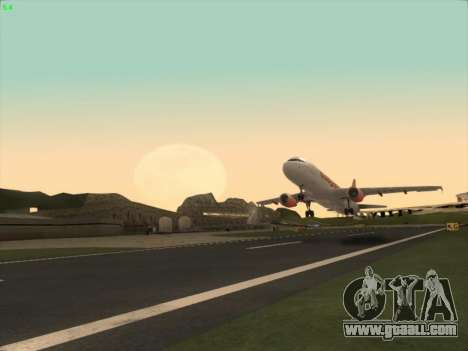 Airbus A320-214 EasyJet for GTA San Andreas right view
