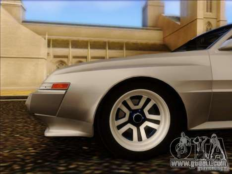 Mitsubishi Starion ESI-R 1986 for GTA San Andreas back view