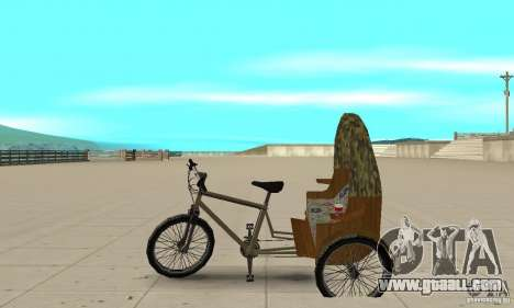 Manual Rickshaw v2 Skin2 for GTA San Andreas left view