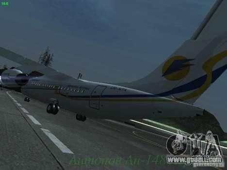 Antonov an-148 Aerosvit Ukrainian Airlines for GTA San Andreas back left view