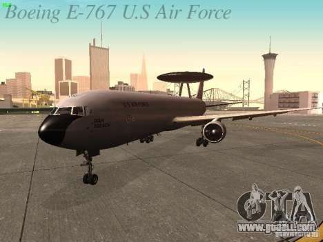 Boeing E-767 U.S Air Force for GTA San Andreas left view
