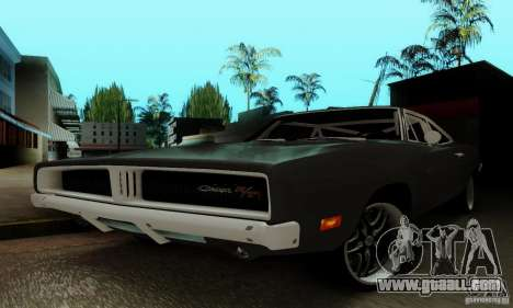 Dodge Charger RT for GTA San Andreas upper view