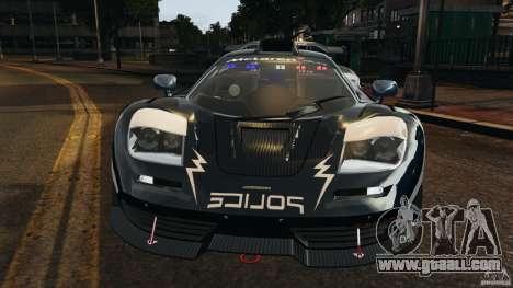 McLaren F1 ELITE Police [ELS] for GTA 4 inner view