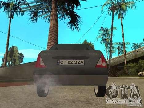 Dacia Solenza for GTA San Andreas back left view
