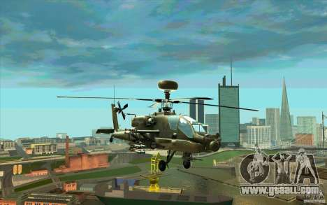 Apache AH64D Longbow for GTA San Andreas
