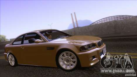 BMW M3 E48 for GTA San Andreas back view