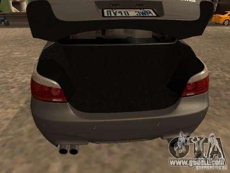 BMW M5 E60 2009 v2 for GTA San Andreas bottom view