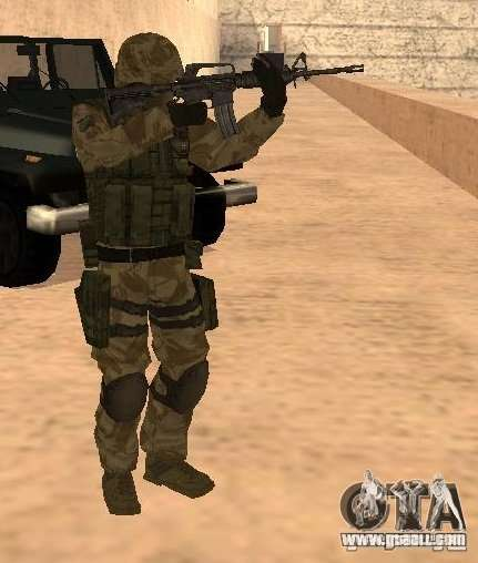 Ranger Army Skin Mod for GTA San Andreas second screenshot