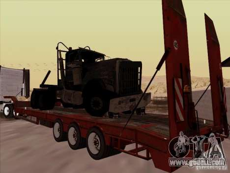 Volvo VNL 670 trailer for GTA San Andreas back left view
