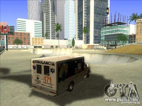 Ford E-350 Ambulance for GTA San Andreas right view