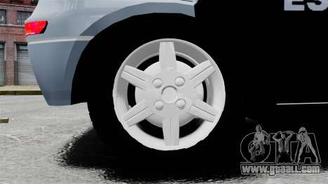Chevrolet Corsa 2012 PMESP ELS for GTA 4 back view