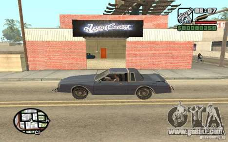 A Paint Shop West Coast Customs for GTA San Andreas second screenshot
