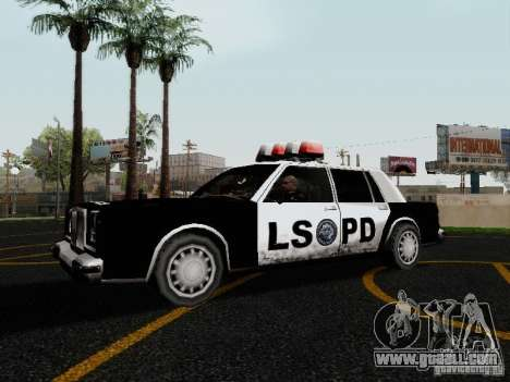 Greenwood Police LS for GTA San Andreas left view