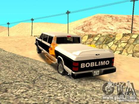 BOBCAT Limousine for GTA San Andreas back left view