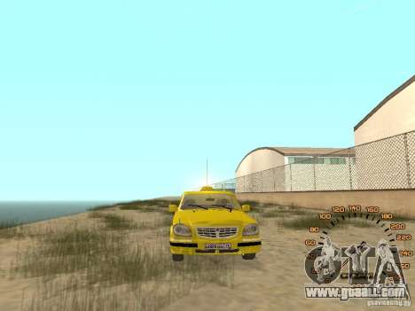 Gaz-31105 taxi for GTA San Andreas right view