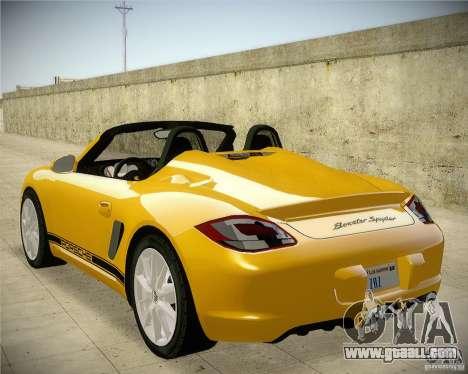 Porsche Boxter Spyder for GTA San Andreas left view
