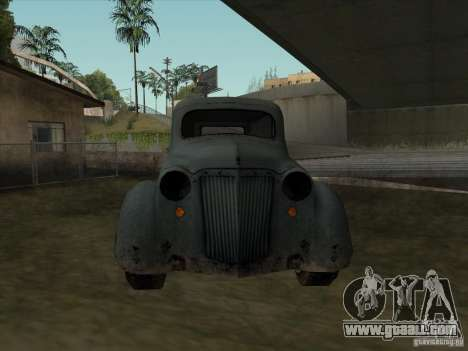 The Vehicle Of The Second World War for GTA San Andreas back view