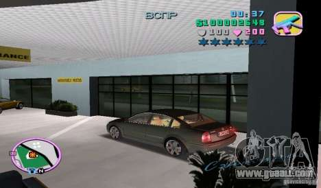 Volkswagen Passat B5+ W8 for GTA Vice City left view