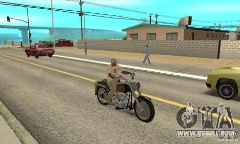 Harley Davidson FLSTF (Fat Boy) v2.0 Skin 3 for GTA San Andreas right view