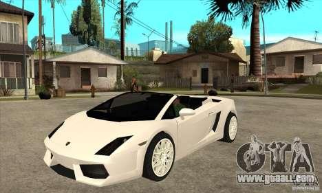 Lamborghini Gallardo Spyder v2 for GTA San Andreas