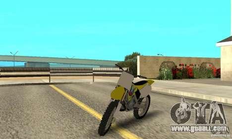 Suzuki RM250 for GTA San Andreas