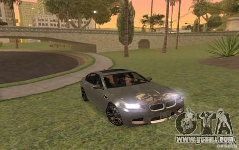 BMW M5 for GTA San Andreas upper view