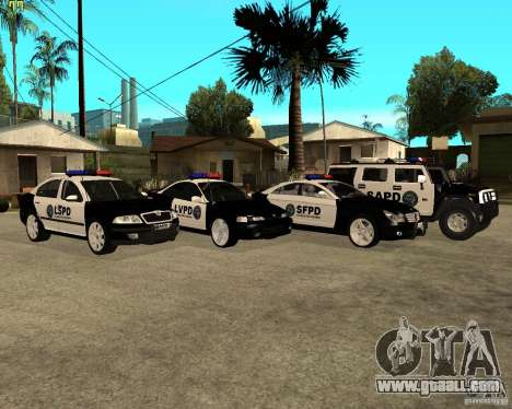 GTA San Andreas SAPD POLICE PACK for GTA San Andreas back left view