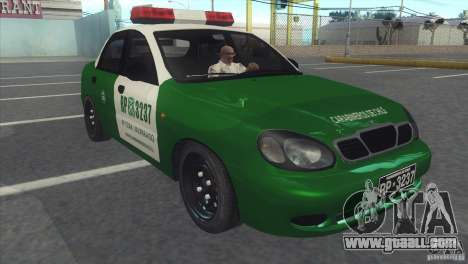 Daewoo Lanos De Carabineros De Chile for GTA San Andreas left view