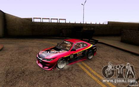 Nissan Silvia S15 Drift Style for GTA San Andreas bottom view