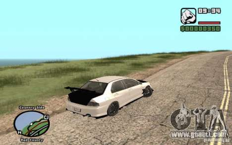 Mitsubishi Lancer Evolution 8 Carbon for GTA San Andreas left view