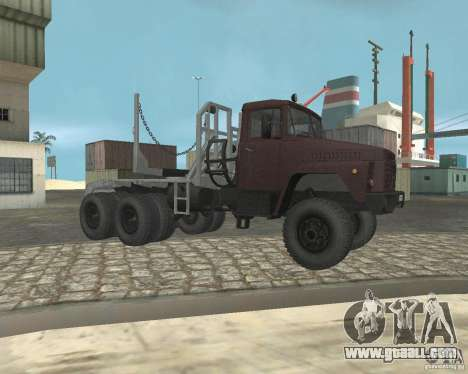 KrAZ-255 timber carrier for GTA San Andreas right view