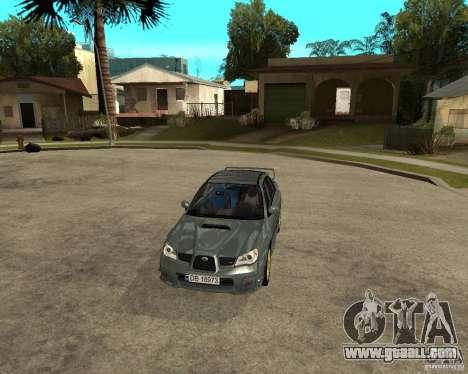 Subaru Impreza WRX STI for GTA San Andreas back view