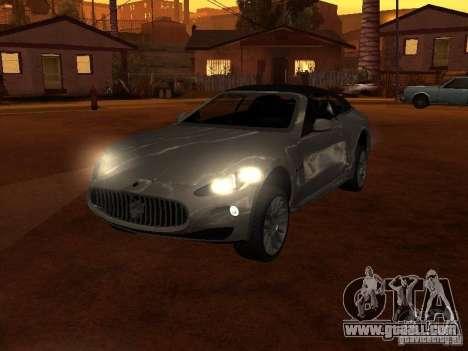 Maserati Granturismo S for GTA San Andreas