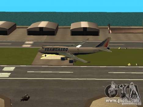 Boeing 747-400 for GTA San Andreas inner view