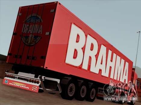 Trailer for Scania R620 Brahma for GTA San Andreas inner view