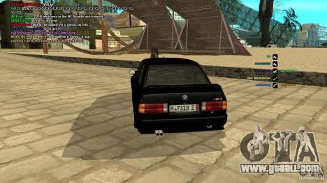 BMW M3 E30 1989 for GTA San Andreas back left view