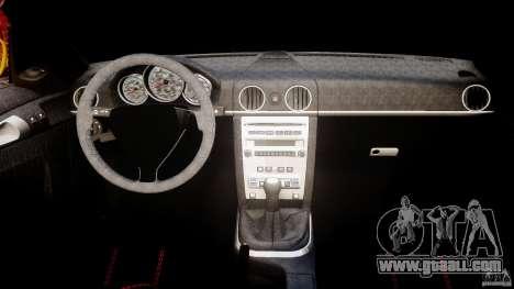 Ruf RK Spyder v0.8Beta for GTA 4 right view