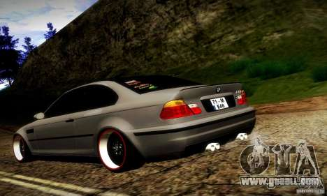 BMW M3 JDM Tuning for GTA San Andreas back left view