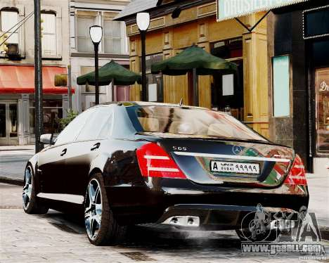 Mercedes-Benz S65 AMG 2010 Final for GTA 4 back left view