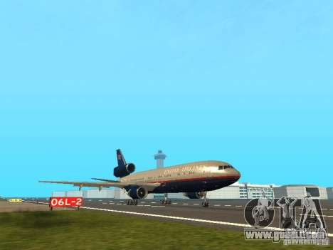 McDonell Douglas DC10 United Airlines for GTA San Andreas left view