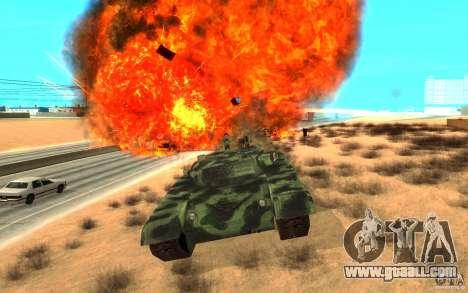 Tank T-72 for GTA San Andreas inner view