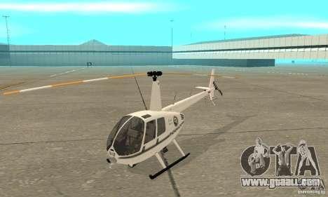 Robinson R44 Raven II NC 1.0 White for GTA San Andreas left view
