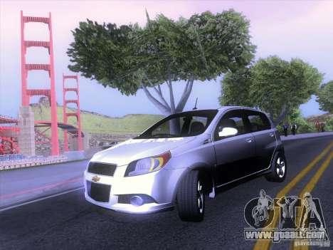 Chevrolet Aveo LT for GTA San Andreas left view