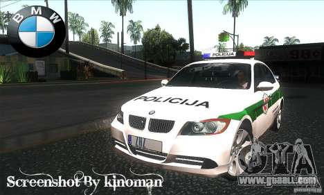 BMW 330 E90 Policija for GTA San Andreas