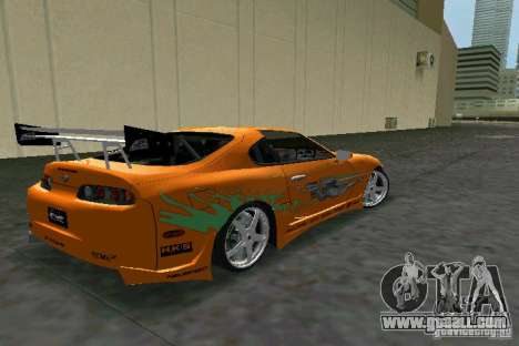 Toyota Supra Fast and the Furious for GTA Vice City right view