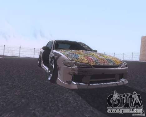 Nissan Silvia S15 Street for GTA San Andreas left view