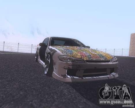 Nissan Silvia S15 Street for GTA San Andreas left view