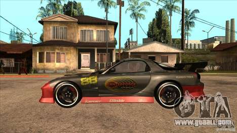 Mazda RX7 Tuned for GTA San Andreas left view