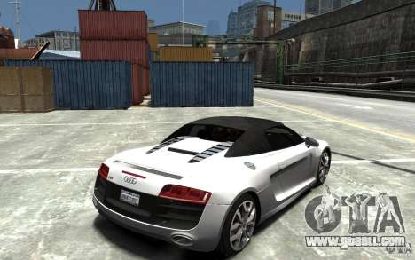 Audi R8 Spyder 5.2 FSI Quattro V4 [EPM] for GTA 4 side view