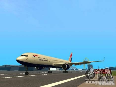 Boeing 767-300 British Airways for GTA San Andreas